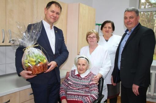 Pasveikinta 90-metė Pagėgių savivaldybės gyventoja