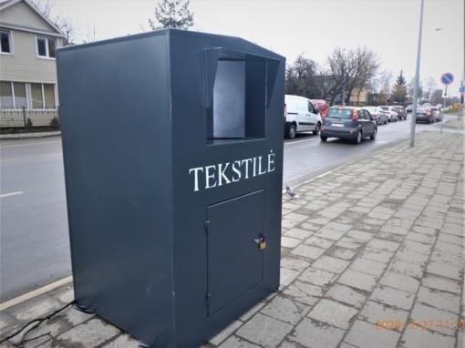 Panevėžiečiams – tekstilės konteineriai