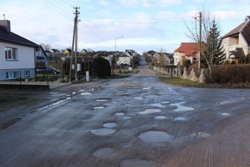Telšių rajono savivaldybė patvirtino 2020 metais remontuojamų gatvių sąrašą