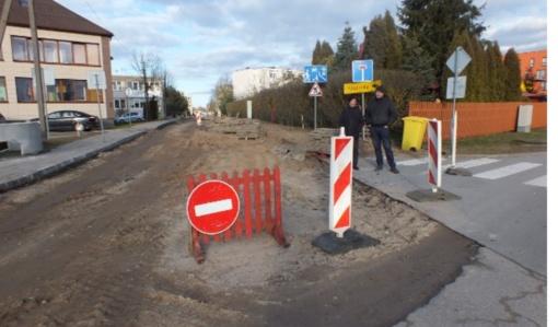 Šilalėje D. Poškos gatvė sulaukė remonto darbų