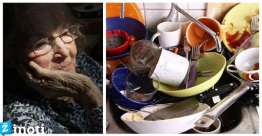 Senyva kaimynė išdavė paslaptį, kodėl negalima palikti nešvarių indų per naktį