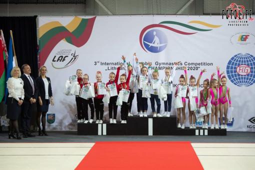 Prieniškių sėkmė aerobinės gimnastikos čempionatuose