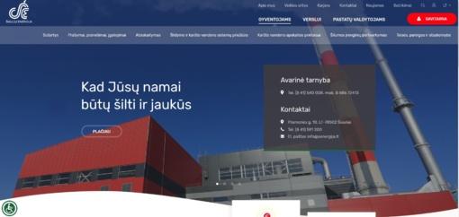 Vartotojų patogumui atnaujintas tinklalapis www.senergija.lt