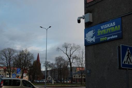 Vaizdo kameros mieste liko pusaklės
