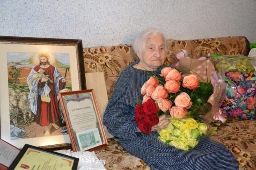 Pasveikinta šimtametė Vilniaus rajono gyventoja