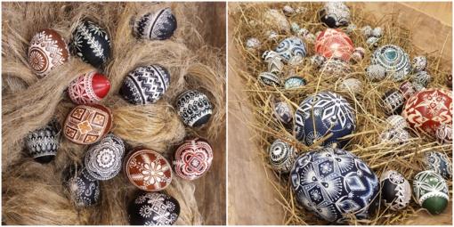 Tautodailės metams – Virginijos Žukauskaitės-Kazancevienės skutinėtų margučių paroda
