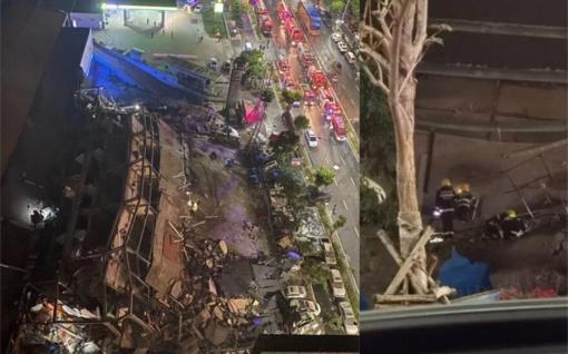 Rytų Kinijoje sugriuvus viešbučiui po griuvėsiais įstrigo 70 žmonių