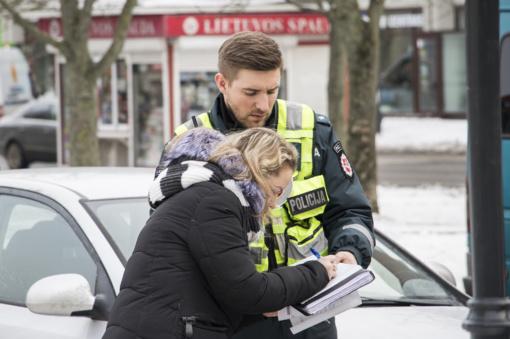 Klaipėdos kelių policijos pareigūnai praėjusią savaitę didžiausią dėmesį skyrė pėsčiųjų daromiems pažeidimams