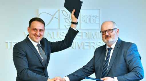 Pasirašyta bendradarbiavimo sutartis su Vilniaus Gedimino technikos universitetu
