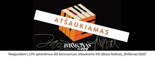 """Atšauktas XXI džiazo festivalis """"Birštonas'2020"""""""