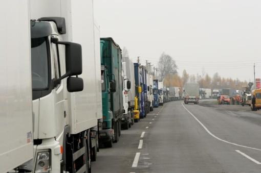 Lietuvos ir Lenkijos pasienyje vilkikų eilės sumažėjo perpus