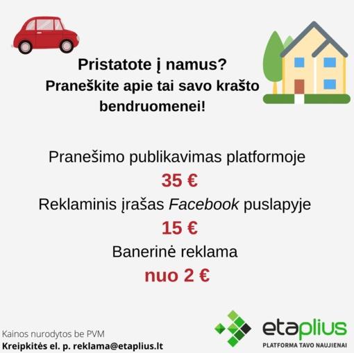 Paslaugos karantino metu visoje Lietuvoje