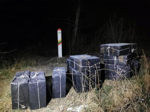 Varėnos rajone kontrabandininkai neteko didelio rūkalų krovinio