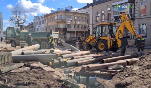 Karantino dienoraščiai: Šiaulių mieste viešųjų erdvių tvarkymo darbai nesustojo