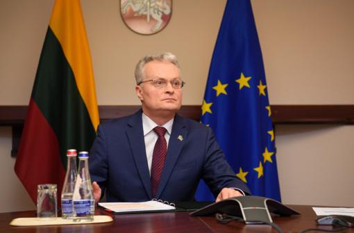 G. Nausėda kreipėsi į Lietuvos žmones: likite namuose, saugokite save, neleiskite tam virusui priartėti prie jūsų
