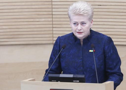 D. Grybauskaitė: po koronaviruso Lietuva išeis su didžiulių skolų kupra