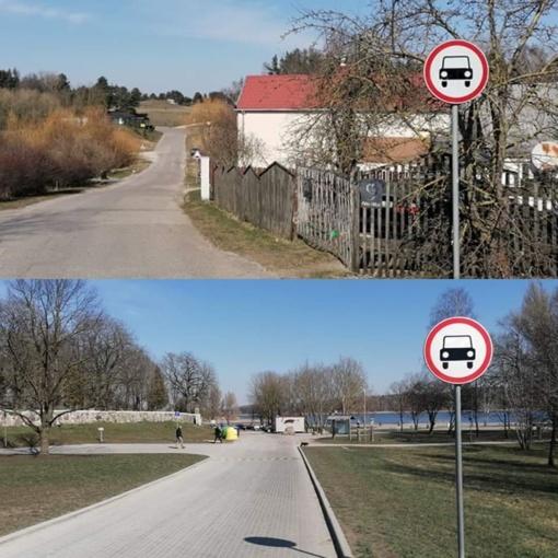 Talkšos ežero pakrantės aikštelėje ir Salduvės piliakalnio prieigose draudžiamas eismas