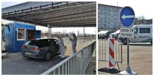 Šiaulių mobilusis Drive-in punktas netuščias – atvykstama atlikti tyrimų (vaizdo įrašas)