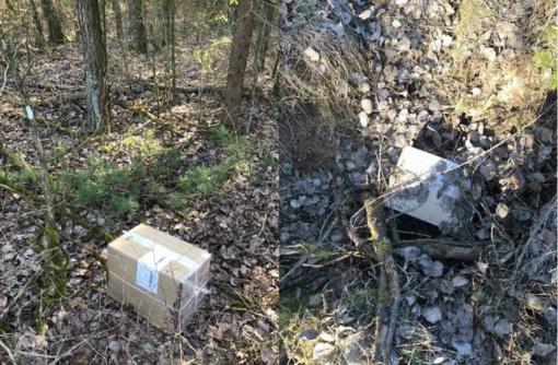 Pabūgę pasieniečių kontrabandininkai cigaretes paliko miške