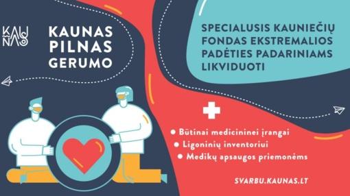 Kovai su koronavirusu – specialus kauniečių fondas