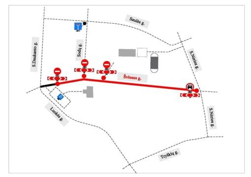 Bus ribojamas eismas Telšių miesto Šviesos gatve