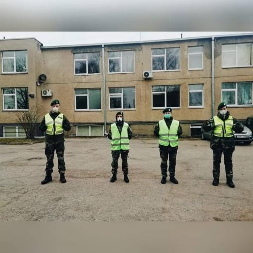 Savaitgalį Anykščių šaulių kuopos nariai patruliavo miesto poilsinėse ir rekreacinėse teritorijose