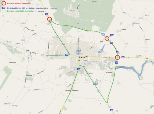 Dėl sunkiasvorių transporto priemonių eismo Šakių mieste