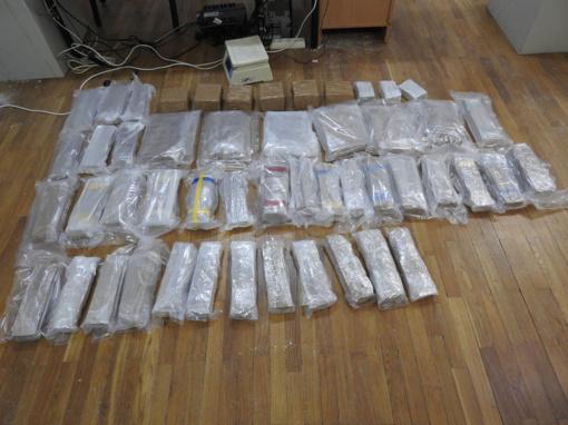 Teismui perduota 50 kilogramų hašišo kontrabandos byla