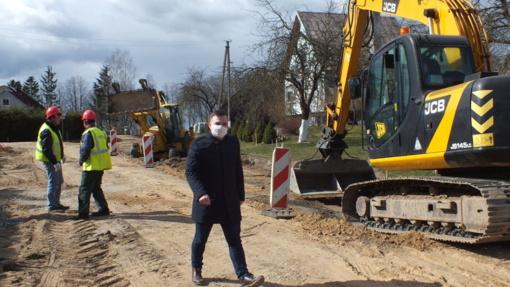 Bijotuose prasidėjo gatvių rekonstrukcija
