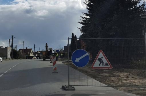 Marijampolėje remontuojamos gatvės