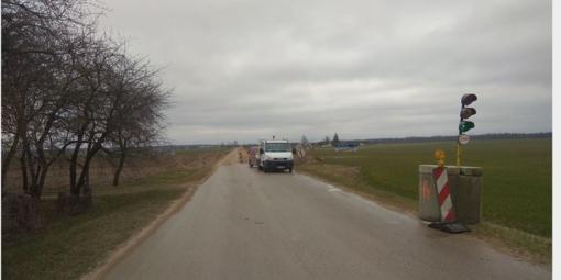 Laikini nepatogumai: Berželės kelyje ribojamas eismas
