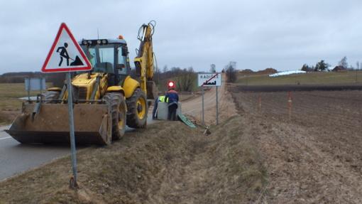 Šilalės rajone pradėtas remontuoti kelias