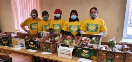 Pušaloto bendruomenė paramos maistu nenutraukia