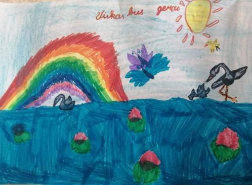 Jaunieji Varėnos dailininkai savo piešinius skyrė koronaviruso metu izoliuotoms italų šeimoms
