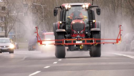 Augant Vilniaus gatvių dezinfekcijos poreikiui – neįprasti sprendimai