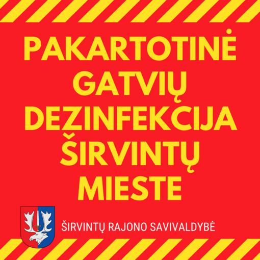 Širvintų mieste atliekama pakartotinė gatvių dezinfekcija