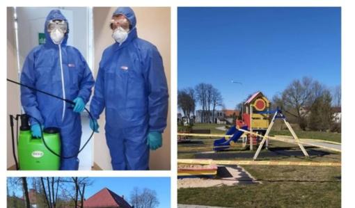 Pradėta dezinfekuoti viešąsias Pagėgių miesto erdves