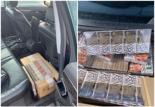 Autostradoje sulaikytas vilnietis gabeno 6 tūkst. pakelių baltarusiškų cigarečių