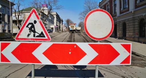 Vairuotojų dėmesiui: eismo apribojimai Marių gatvėje