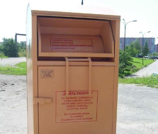 Klaipėdos mieste nebelieka tekstilės atliekų surinkimo konteinerių