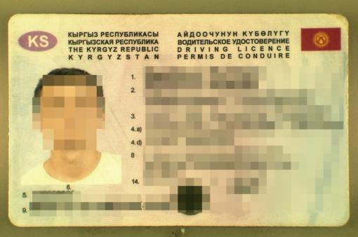 Vilkiką vairavęs kirgizas pasieniečiams rodė suklastotą pažymėjimą