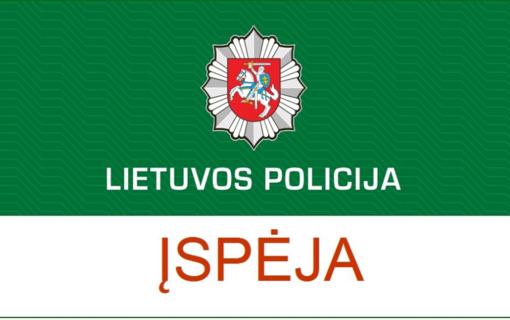 Policija įspėja saugotis Utenos apskrityje siaučiančių sukčių