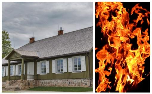 Pivašiūnų piligrimų centrą nuniokojo gaisras, įtariamas padegimas