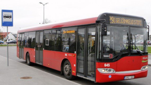 Per mėnesį Kauno viešajame transporte keleivių sumažėjo per 70 procentų