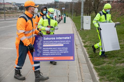 Vilnius sakurų žydėjimu siūlo gėrėtis internetu