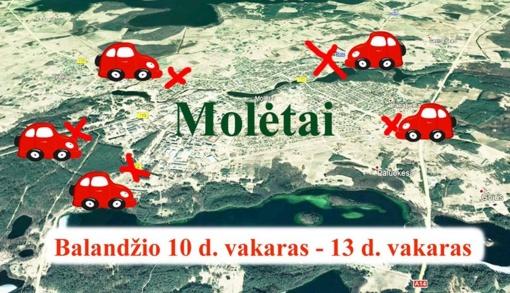 Bus ribojamas įvažiavimas į Molėtų miestą