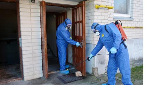 Tauragėje ir Tauragės rajone dezinfekuotos daugiabučių gyvenamųjų namų laiptinės