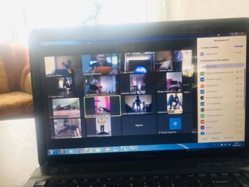 Nuotolinės treniruotės su Vytautu Kalinausku (vaizdo įrašas)