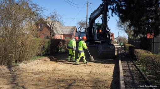 Prasidėjo Kuršėnų Kęstučio gatvės rekonstrukcija
