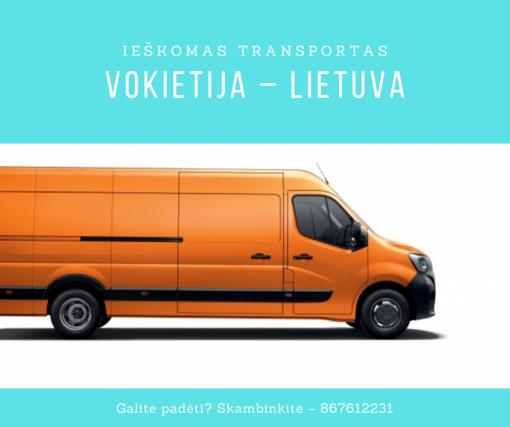 """""""Šiaulių letenėlė"""" ieško transporto Vokietija-Lietuva"""